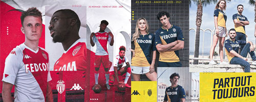 camiseta de futbol AS Monaco barata