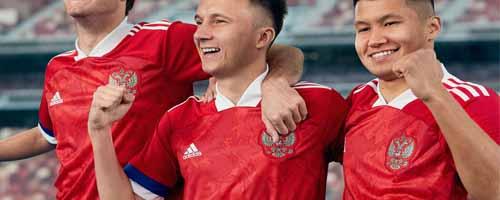 camiseta de futbol Rusia barata