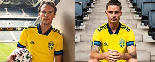 camiseta de futbol Suecia barata
